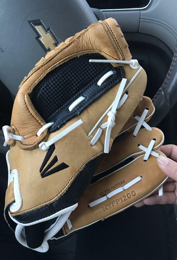 "Easton 12"" leather baseball/softball glove"