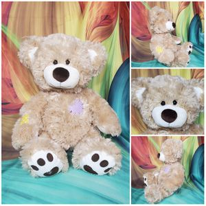 """16"""" Build a Bear Patches Champ Plush Teddy Corduroy Heart Stuffed BABW Toy for Sale in Dale, TX"""