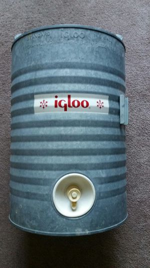 5 Gal. Thermos Cooler Igloo Vintage Galvinized for Sale in Pasadena, MD
