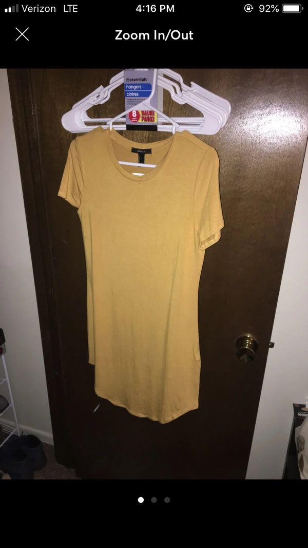Mustard Yellow T-shirt Dress
