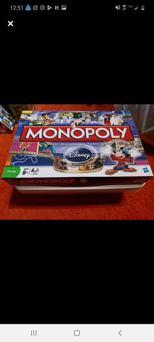 Disney monopoly game for Sale in Geneva, OH