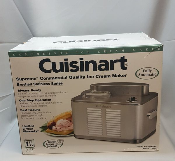 Cuisinart Ice 50bc Supreme Cream Maker Band New