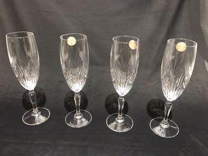 4 Princess House Crystal Champagne Glasses for Sale in Snohomish, WA