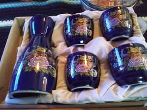An old antique sake Canter with four shot glasses for Sale in Independence, MO
