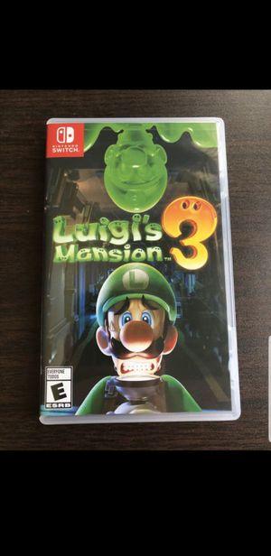 Luigis Mansion 3-Nintendo Switch for Sale in Ontario, CA
