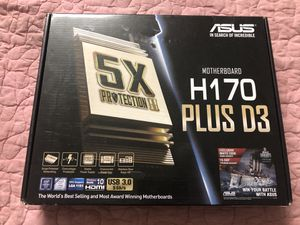 Asus H170-Plus D3 1151 Socket DDR3 Motherboard for Sale in Stockton, CA