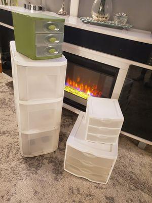 Plastic drawers different size organizer for Sale in Cranston, RI