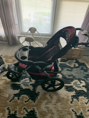 Baby bundle stroller with matching car seat and stand baby harness carrier and a baby Stand for Sale in Sunrise, FL