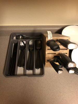 Silverware, plates, cups, and kitchen supplies for Sale in Bothell, WA