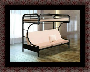 Twin futon bunk bed frame for Sale in Crofton, MD