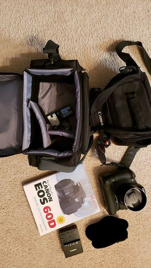 Canon 60D with all the trimmings for Sale in Virginia Beach, VA