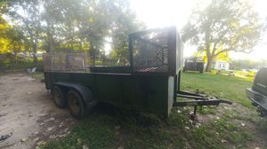 Double axle 16ft long 6 1/2 wide trailer for Sale in Pasadena, TX