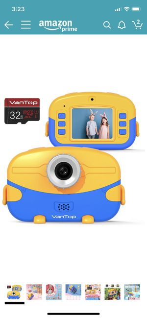 Kids Camera with 32GB Memory Card, Supports 20.0MP Photo, 1080P HD Digital Video and 4X Digital Zoom, Great Gift for Kids with 2 Inch IPS Screen and for Sale in Katy, TX