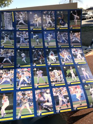 Los Angeles Dodgers Baseball Cards Poster | Collectables for Sale in Downey, CA
