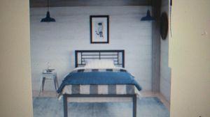 YourZone Kids Metal Platform Bed, Twin, Black for Sale in Fort Wayne, IN