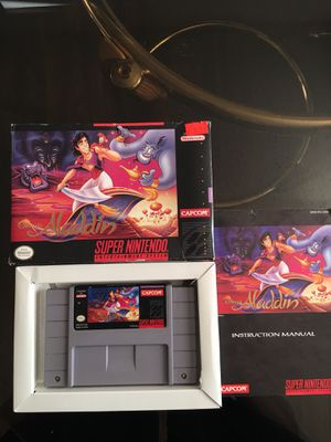 Aladdin (Super Nintendo, SNES) CIB for Sale in Arlington, TX