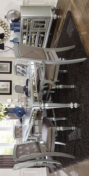 Orsina Silver Mirrored Extendable Dining Set | 5477 for Sale in Austin, TX