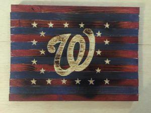Washington Nationals wooden sign for Sale in Fort Belvoir, VA