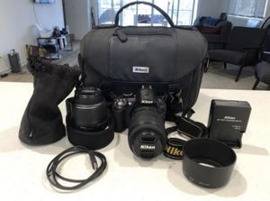 Nikon D3100 With Lenses and Case for Sale in Downey, CA