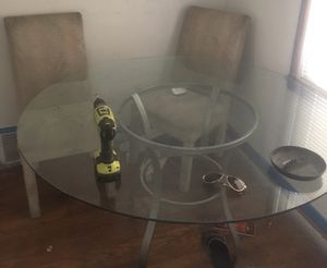Dinning Room Glass Table w/ 4 Chairs & Glass Coffee Table for Sale in Detroit, MI