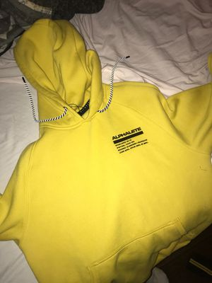 Alphalete yellow hoodie, pink joggers women,men's premium joggers for Sale in Houston, TX