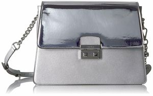 Calvin Klein Novelty Mirrored Large Flap Crossbody Metallic for Sale in Norfolk, VA