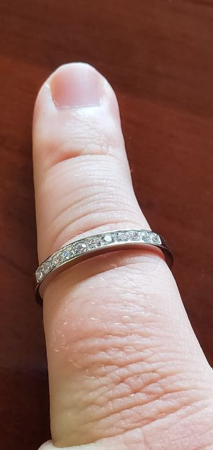 925 Sterling Silver, AAA Cubic Zirconia Stones, Women's Wedding/Engagement/Promise Ring Band Size 5, 6, 7, 8 & 9 for Sale in Portland, OR