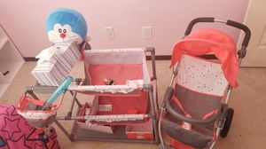 Baby crib and double stroller for Sale in Las Vegas, NV