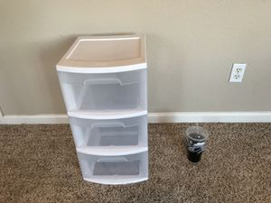 (NEGOTIABLE) Extremely nice 3 drawer plastic bin for Sale in Lodi, CA