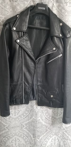 Men's Leather Biker Motorcycle jacket for Sale in West Covina, CA