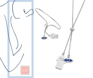 Eye and Hamsa Sterling Silver Set for Sale in Frisco, TX