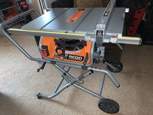 "RIDGID 10"" portable Job-Site TABLE SAW for Sale in Pomona, CA"