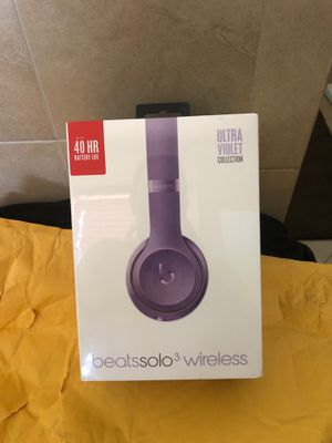 Brand new!!! Ultraviolet Beatssolo3 wireless headphone. Limited edition for Sale in Miami, FL