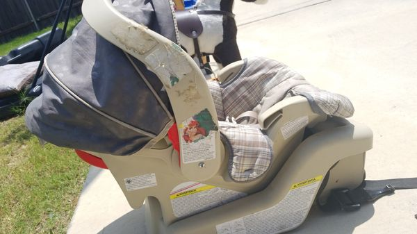 Graco car booster seat and baby stroller