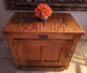Vintage White Clad Ice Box Cabinet / side table / end table / night stand for Sale in Phoenix, AZ