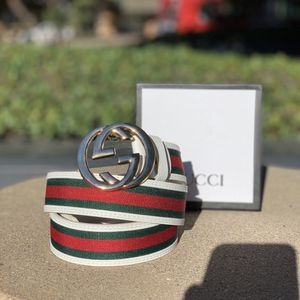 Gucci Interlocking G Belt Monogram Web White/Green/Red for Sale in San Diego, CA