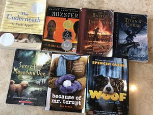 Assorted books for teens and young readers: The Underneath, Monster, the battle of the labyrinth, The titans curse, Secret of the Mountain Dog, becau for Sale in Hollywood, FL