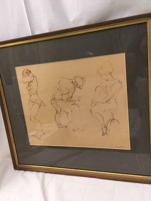 Framed artwork nude figure study for Sale in Nashville, TN
