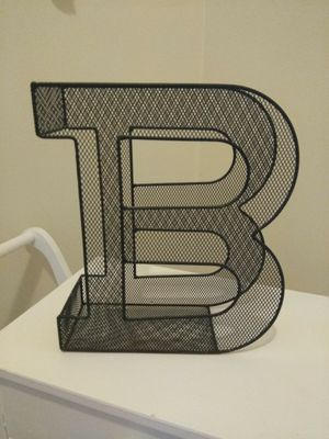 A metal letter B to hold magazines anywhere in your house for Sale in Hyattsville, MD