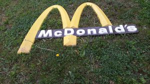 Aluminum metal McDonald's sign for Sale in Wyalusing, PA