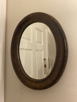Vintage chrome oval mirror for Sale in Los Angeles, CA