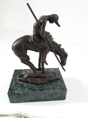 $50! Bronze end of the trail statue, marble base for Sale in Tacoma, WA