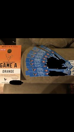 Looking for houston/dallas tailgate tickets/parking for Sale in Robinson,  TX