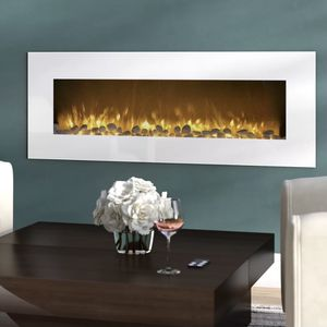 """Wall mounted decorative fireplace in white by Northwest. This one does NOT produce heat- its decorative only. New Open box condition. 21.75"""" H x 50.5"""" for Sale in Woodstock, GA"""