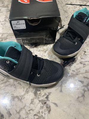 Nike Kyrie 2 Boys Preschool PS Size 13C Basketball Shoes Black/Hyper Jade/White for Sale in Washington, DC