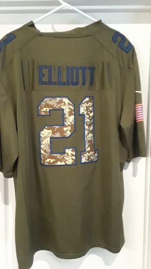 DALLAS COWBOYS EZEKIEL ELLIOTT SALUTE TO SERVICE ON THE FIELD JERSEY/ XLG for Sale in Clovis, CA