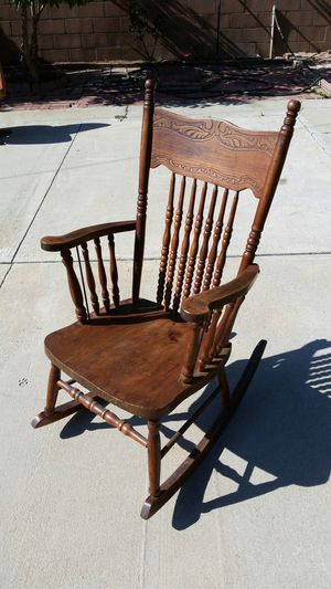 Antique Fancy Wood Rocking Chair for Sale in West Covina, CA
