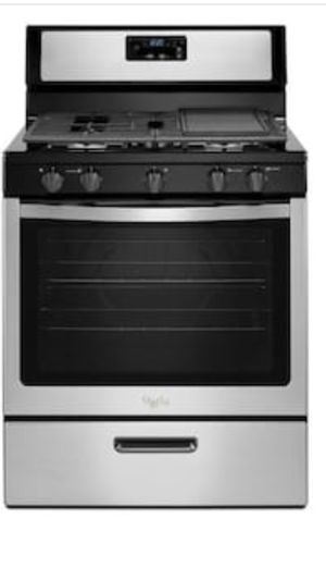 """New stove gas range whirlpool 5 burner stainless steel w 30"""" for Sale in Walnut, CA"""