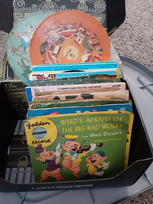 Old Walt Disney records and read along record books for Sale in Tacoma, WA