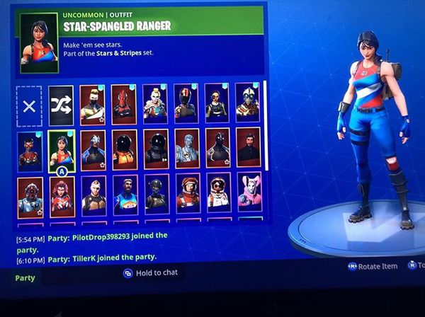 Xbox fortnite stacked account for the go ( selling for the ...
